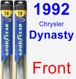 Front Wiper Blade Pack for 1992 Chrysler Dynasty - Hybrid