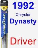 Driver Wiper Blade for 1992 Chrysler Dynasty - Hybrid