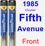 Front Wiper Blade Pack for 1985 Chrysler Fifth Avenue - Hybrid
