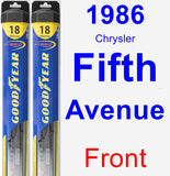 Front Wiper Blade Pack for 1986 Chrysler Fifth Avenue - Hybrid