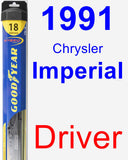 Driver Wiper Blade for 1991 Chrysler Imperial - Hybrid