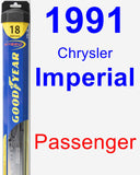 Passenger Wiper Blade for 1991 Chrysler Imperial - Hybrid
