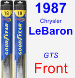 Front Wiper Blade Pack for 1987 Chrysler LeBaron - Hybrid
