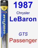 Passenger Wiper Blade for 1987 Chrysler LeBaron - Hybrid