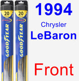 Front Wiper Blade Pack for 1994 Chrysler LeBaron - Hybrid