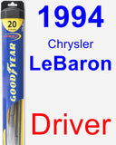 Driver Wiper Blade for 1994 Chrysler LeBaron - Hybrid