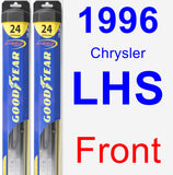Front Wiper Blade Pack for 1996 Chrysler LHS - Hybrid