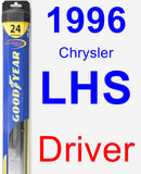 Driver Wiper Blade for 1996 Chrysler LHS - Hybrid