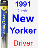 Driver Wiper Blade for 1991 Chrysler New Yorker - Hybrid