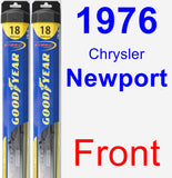Front Wiper Blade Pack for 1976 Chrysler Newport - Hybrid