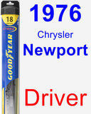 Driver Wiper Blade for 1976 Chrysler Newport - Hybrid