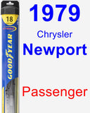 Passenger Wiper Blade for 1979 Chrysler Newport - Hybrid