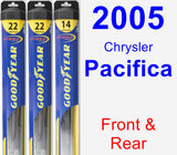 Front & Rear Wiper Blade Pack for 2005 Chrysler Pacifica - Hybrid