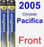 Front Wiper Blade Pack for 2005 Chrysler Pacifica - Hybrid