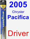 Driver Wiper Blade for 2005 Chrysler Pacifica - Hybrid
