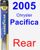 Rear Wiper Blade for 2005 Chrysler Pacifica - Hybrid