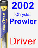 Driver Wiper Blade for 2002 Chrysler Prowler - Hybrid