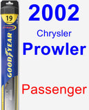 Passenger Wiper Blade for 2002 Chrysler Prowler - Hybrid