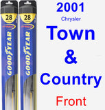 Front Wiper Blade Pack for 2001 Chrysler Town & Country - Hybrid