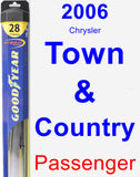 Passenger Wiper Blade for 2006 Chrysler Town & Country - Hybrid