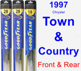 Front & Rear Wiper Blade Pack for 1997 Chrysler Town & Country - Hybrid