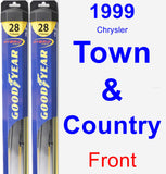 Front Wiper Blade Pack for 1999 Chrysler Town & Country - Hybrid