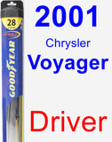 Driver Wiper Blade for 2001 Chrysler Voyager - Hybrid