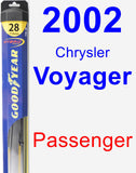Passenger Wiper Blade for 2002 Chrysler Voyager - Hybrid
