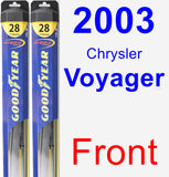 Front Wiper Blade Pack for 2003 Chrysler Voyager - Hybrid