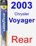 Rear Wiper Blade for 2003 Chrysler Voyager - Hybrid