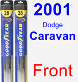 Front Wiper Blade Pack for 2001 Dodge Caravan - Hybrid