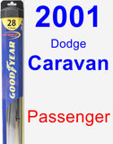 Passenger Wiper Blade for 2001 Dodge Caravan - Hybrid