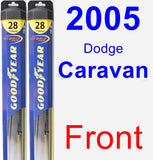 Front Wiper Blade Pack for 2005 Dodge Caravan - Hybrid