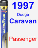 Passenger Wiper Blade for 1997 Dodge Caravan - Hybrid