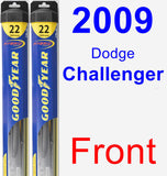 Front Wiper Blade Pack for 2009 Dodge Challenger - Hybrid