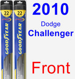 Front Wiper Blade Pack for 2010 Dodge Challenger - Hybrid