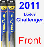 Front Wiper Blade Pack for 2011 Dodge Challenger - Hybrid