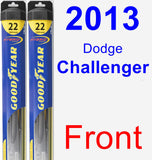 Front Wiper Blade Pack for 2013 Dodge Challenger - Hybrid