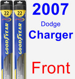 Front Wiper Blade Pack for 2007 Dodge Charger - Hybrid