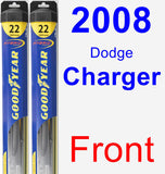 Front Wiper Blade Pack for 2008 Dodge Charger - Hybrid