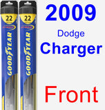 Front Wiper Blade Pack for 2009 Dodge Charger - Hybrid
