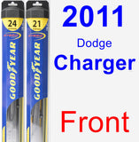 Front Wiper Blade Pack for 2011 Dodge Charger - Hybrid