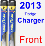 Front Wiper Blade Pack for 2013 Dodge Charger - Hybrid
