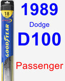 Passenger Wiper Blade for 1989 Dodge D100 - Hybrid