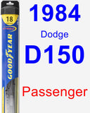 Passenger Wiper Blade for 1984 Dodge D150 - Hybrid