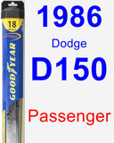 Passenger Wiper Blade for 1986 Dodge D150 - Hybrid