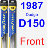 Front Wiper Blade Pack for 1987 Dodge D150 - Hybrid