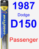 Passenger Wiper Blade for 1987 Dodge D150 - Hybrid