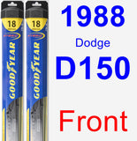 Front Wiper Blade Pack for 1988 Dodge D150 - Hybrid