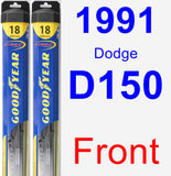 Front Wiper Blade Pack for 1991 Dodge D150 - Hybrid